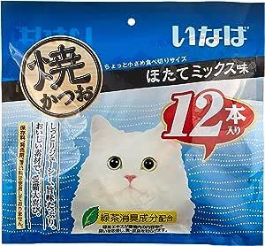 いなばペットフード 猫用おやつ 焼かつお ほたてミックス味 12本入