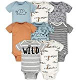 Gerber Baby Boys' 8-Pack Short Sleeve Onesies Bodysuits