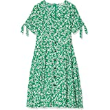 YUMI Women's Vintage Floral Midi Dress with Button Deatail Casual