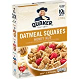 Quaker Oatmeal Squares Cereal, Honey Nut, 14.5 oz