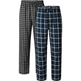 David Archy Men's Comfy Jersey Cotton Knit Pajama Lounge Sleep Pant in 1/2 Pack