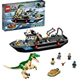 LEGO 76942 Jurassic World Baryonyx Dinosaur Floating Boat Escape Toy with Speedboat for Boys & Girls