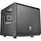 Thermaltake Core V1 Black Edition SPCC Mini ITX Cube Computer Chassis CA-1B8-00S1WN-00