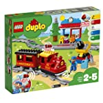 LEGO DUPLO Steam Train 10874 Remote-Control Building Blocks Set Helps Toddlers Learn, Great Educational Birthday Gift