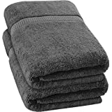Utopia Towels - 2 Pack Extra Large Bath Towels 35 x 70 inches Bath Sheets, Grey