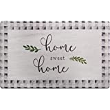 SoHome Cozy Living Anti-Fatigue Designer Kitchen Mat, Home Sweet Home Themed-Non Slip, Stain Resistant, Easy Clean, 1/2 Inch