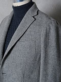 Airy Wool Tweed 2-button Jacket 117-04-0197: Light Grey