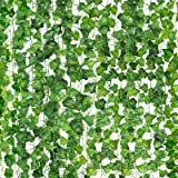 CEWOR Fake Ivy Garland 36 Strands 236 Feet Artificial Silk Ivy Leaf Jungle Vines Faux Greenery Hanging Plants for Home Garden