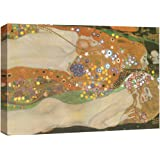 wall26 Water Serpents Ii Water Snakes by Gustav Klimt - Austrian Symbolist Painter - Golden Phase - Canvas Art Home Decor - 2