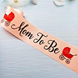 Mom to Be Sash, Baby Shower Mom Sash, Boy or Girl Gender Reveal Welcome Baby Party Decorations, Mommy to Be Accessories, New