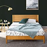 Zinus Queen Bed Frame Allen Mid Century Platform Bed | Solid Pine Wood Furniture