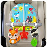 BENBAT Dazzle Friends Double Sided Car Arch On The Go Toys for 0 Months, Multi/Colour