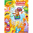 CRAYOLA 04-0496 Colouring Books for Kids, Sloths Love Llamas Colouring Activity Book, 96 Pages of Colourable Fun, Includes Pu