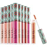 Nicole Miller 10 Pc Lip Gloss Collection, Shimmery Lip Glosses for Women and Girls, Long Lasting Color Lip Gloss Set with Ric