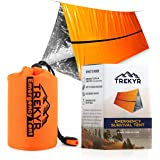 TREKYR Survival Shelter - Emergency Tent 2 Person Waterproof for Hiking Survival Kit - SurvivalTent for Your Bug Out Bag or