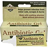 All Terrain Antibiotic Gel 0.5 oz Natural First Aid Gel with Bacitracin and Allantoin to Help Protect Minor Cuts and Wounds f