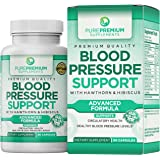 Premium Blood Pressure Support Supplement by PurePremium with Hawthorn & Hibiscus | Natural Anti-Hypertension for Cardiovascu