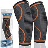 Modvel Athletics Compression Knee Sleeve   1 Pair FDA Registered   Knee Brace Support for Arthritis, ACL, Running, Biking, Ba
