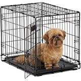 Midwest ICrate 1524-24 Inch Folding Metal Dog Crate w/Divider Panel,Small Dog Breed, Black