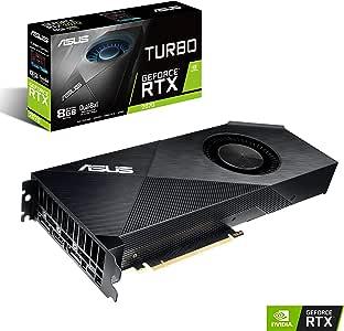 ASUS Turbo GeForce RTX™2070リフレッシュレートとVRゲームのための強力な冷却機能を備えた ビデオカード TURBO-RTX2070-8G