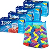 Ziploc Slider Freezer Bags with New Power Shield Technology, Quart, 34 Count, Pack of 4 (136 Total Bags)