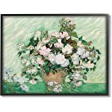Stupell Industries Impressionist Arrangement of Chrysanthemums Traditional Painting, Designed by Vincent Van Gogh Black Frame