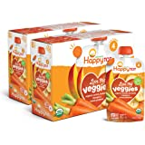 Happy Tot Organic Stage 4 Baby Food Love My Veggies Carrot Banana Mango & Sweet Potato, 4.22 Ounce Pouch (Pack of 16) (Packag
