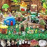 Ellie Arts Mini Fairy Garden Kit for Girls & Boys with Accessories, Decor Includes Houses, Fairies Figurines, Unicorn, Animal
