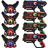 ArmoGear Infrared Laser Tag Blasters and Vests - Laser Battle Mega Pack Set of 4 - Infrared 0.9mW