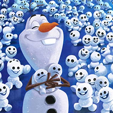 ディズニー iPad壁紙 or ランドスケープ用スマホ壁紙(1:1)-1 - アナと雪の女王 オラフのちいさなおとうとたち