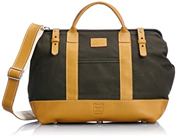 Heritage Leather Company Mason Bag 7726: Olive / Yellow