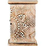 Key Holder for Wall Decorative   Wall Mount Flower Engraved Key Holder Organizer   Wood Key Holder for Wall Rustic   Little W