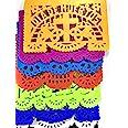 30 Frontales Pack Altar de Ofrendas Dia de Muertos Day of The Dead Decoration Colorful Medium Size Tissue Paper Mexican Papel