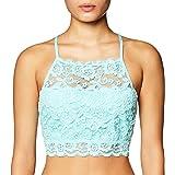 MAE Amazon Brand Women's Hi-Neck Lace Bralette (for A-C