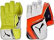 Puma, Cricket, Evospeed 4 Wicket Keeper Gloves 2016, Small Boys, Lava Blast/Safety Yellow