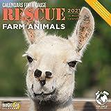Bright Day Calendars 2021 Rescue Farm Animals Wall Calendar by Bright Day, 12 x 12 Inch, Cute Calendars for a Cause