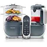 Babymoov Nutribaby Plus 6 in 1 Nutritionist Approved Food Processor with Steam Cooker, Multi-Speed Blender, Baby Puree Maker,