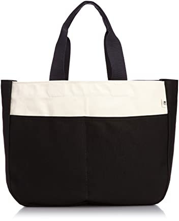 Blk Pine Workshop Standard Utility Wide Tote UT15SCL: Natural / Black