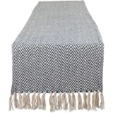 """DII CAMZ11270 Braided Cotton Table Runner, Perfect for Spring, Fall Holidays, Parties and Everyday Use 15x72"""" French Blue"""