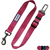 Zenify Dog Car Seat Belt Seatbelt Lead Puppy Harness - Heavy Duty Adjustable Carseat Clip Buckle Leash for Dogs Puppies Pets