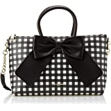 Karl Lagerfeld Paris womens Kris Faux Leather Bow Satchel