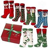 Gilbin Super Soft Fuzzy Anti Grip Socks, Striped, 6 Pair