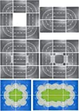 【aereo di carta】 ブロック 互換性 シティ ロードプレート 海岸 基礎版 道路 基本 アイデアボックス (直線2枚+T字路2枚+交差点+カーブ4枚)