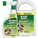 Simple Green Outdoor Odor Eliminator for Pets, Dogs, Ideal for Artificial Grass & Patio (32 oz Hose End Sprayer & 1 Gallon Re