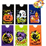 60 Pcs Halloween Drawstring Candy Bag for Trick-or-Treating, Halloween Party Favors, Goodie Bags, Classroom Treat Bags