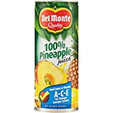 Del Monte 100% Pineapple Juice With Vitamins A C and E, 240ml