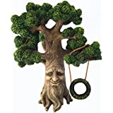 GlitZGlam Fairy and Garden Gnome Tree - Enchanted Grandpa Miniature Tree with Removable Glow in The Dark Welcome Sign for Fai