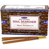 Satya Soul Searcher Incense Sticks 15 Gram x 12 Pack, Hand Rolled – Free from Chemicals – Organic & Perfect for Aromatherapy,