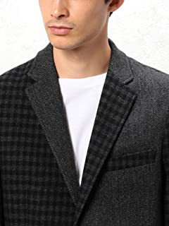 Crazy Pattern Tweed Jacket 3222-186-2106: Dark Grey