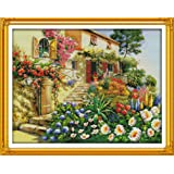 Joy Sunday Cross Stitch Kits Easy Patterns Embroidery for Girls Crafts DMC Cross-Stitch Supplies Needlework Scenery Series, G